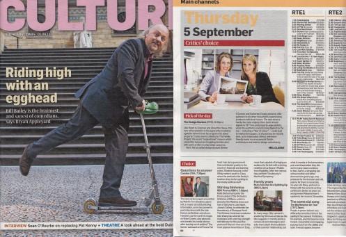 Sundat Times Culture 1st Sept 2013